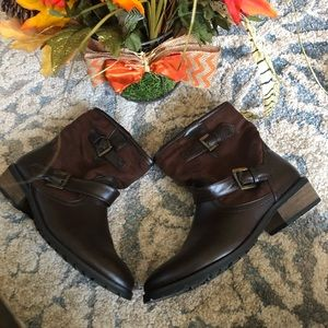 JustFab Flat Ankle Boot